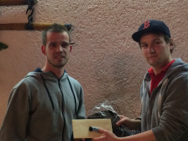 Andy überreichte den Ersten Platz an Ronny Hofmann, herzlichen Glückwunsch.