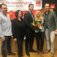 Stefan Roider, Heidi König, Jan-Michael Fischer, Xenia Keil und Jens Majer bei der Delegiertenkonferenz